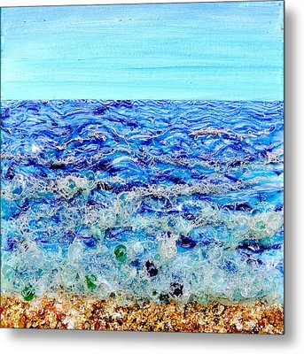 Sparkling Sea Metal Print