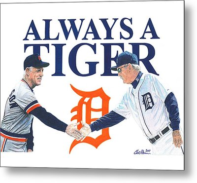 Sparky Anderson And Jim Leyland Metal Print
