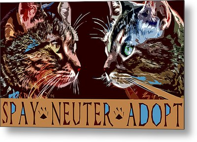 Spay Neuter Adopt Metal Print by David G Paul