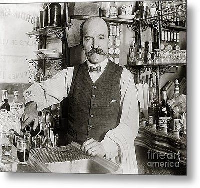 Speakeasy Bartender Metal Print by Jon Neidert