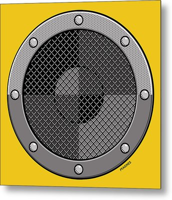 Metal Print featuring the digital art Speaker by Ron Magnes