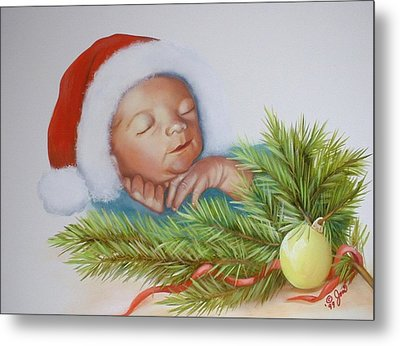 Special Christmas Delivery Metal Print by Joni McPherson