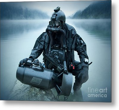 Special Operations Forces Combat Diver Metal Print by Tom Weber