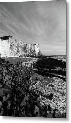 Spectacular Cliffs At Seaford Head Sussex England Metal Print by James Brunker