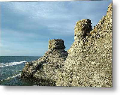 Metal Print featuring the photograph Spectacular Eroded Cliffs  by Kennerth and Birgitta Kullman