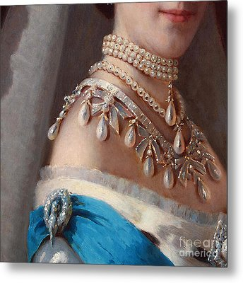 Historical Fashion, Royal Jewels On Empress Of Russia, Detail Metal Print