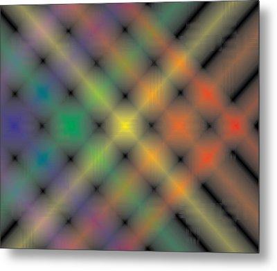 Spectral Shimmer Weave Metal Print