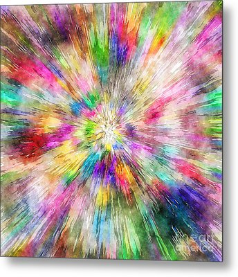 Spectral Tie Dye Starburst Metal Print by Phil Perkins
