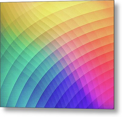 Spectrum Bomb Fruity Fresh Hdr Rainbow Colorful Experimental Pattern Metal Print