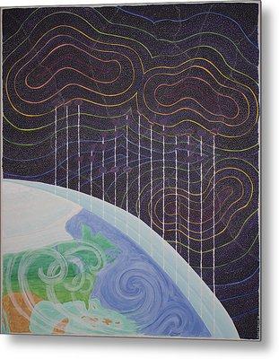 Spectrum Earth Spacescape Metal Print