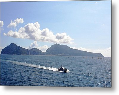 Metal Print featuring the photograph Speed At Sea Capri by Piety Dsilva