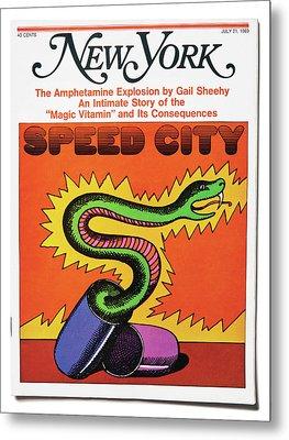 Speed City Metal Print