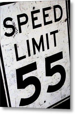 Speed Limit Metal Print by Audrey Venute