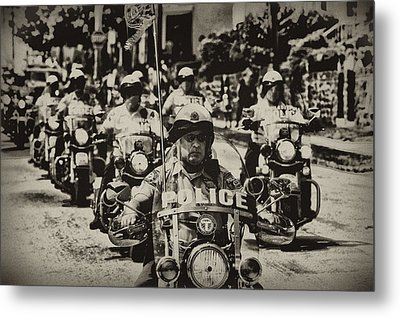 Speedy Motorcycle Metal Print by Bill Cannon