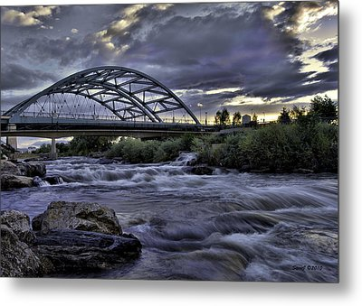 Speer Blvd Bridge Metal Print