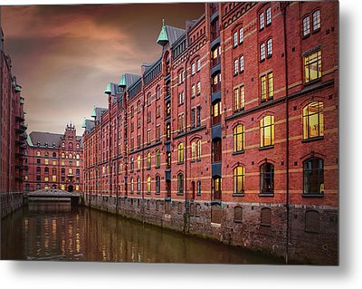 Speicherstadt Hamburg Germany  Metal Print