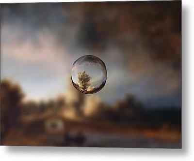 Sphere 13 Rembrandt Metal Print by David Bridburg