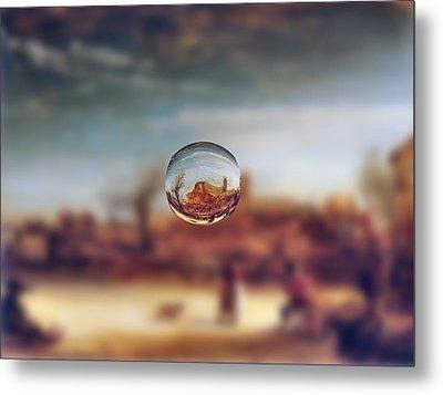 Sphere 14 Rembrandt Metal Print by David Bridburg