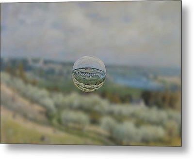 Sphere 24 Sisley Metal Print by David Bridburg