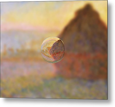 Sphere 5 Monet Metal Print by David Bridburg