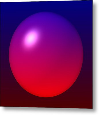 Metal Print featuring the digital art Sphere by Lyle Hatch
