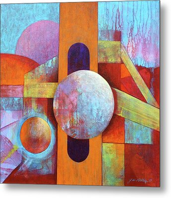 Spheres And Beams Metal Print by J W Kelly