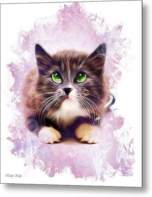 Spice Kitty Metal Print by Kathy Kelly
