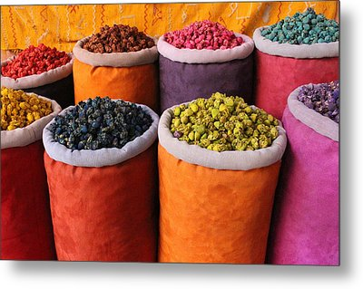 Metal Print featuring the photograph Spice Rainbow by Ramona Johnston