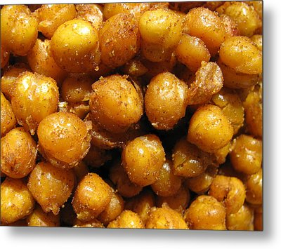 Metal Print featuring the photograph Spicy Chick Peas by Lindie Racz