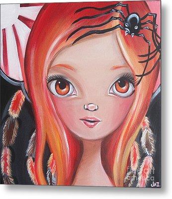 Spider Fairy Metal Print by Jaz Higgins