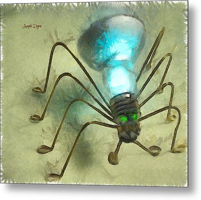 Spiderlamp - Da Metal Print by Leonardo Digenio