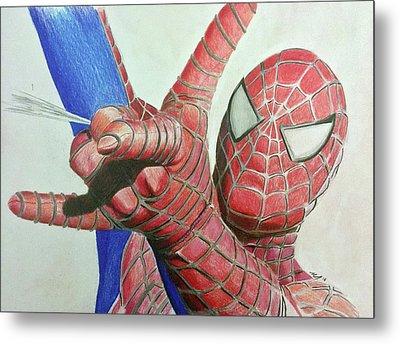 Spiderman Metal Print by Michael McKenzie