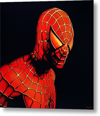 Spiderman Metal Print by Paul Meijering