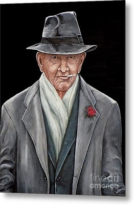 Spiffy Old Man Metal Print by Judy Kirouac