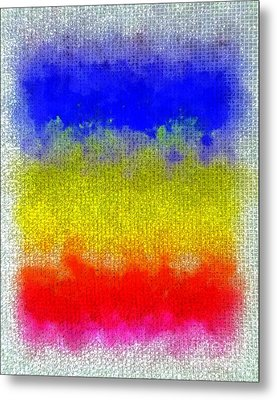 Metal Print featuring the digital art Spilled Paint 1 by Darla Wood