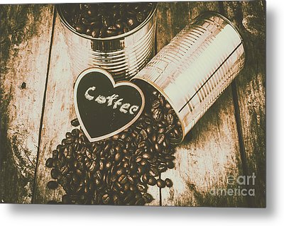 Spilling The Beans Metal Print