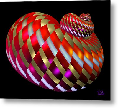 Metal Print featuring the digital art Spin-orbit Interaction by Manny Lorenzo