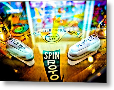 Spin Roto - Pinball Machine Metal Print by Colleen Kammerer