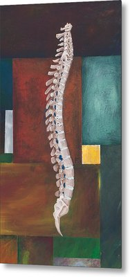 Spinal Column Metal Print by Sara Young