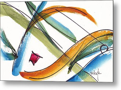 Spindle Back Abstract #2 Metal Print by Pat Katz