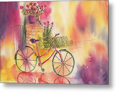 Spindly Spokes Metal Print
