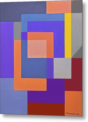 Spring 3 Abstract Composition Metal Print