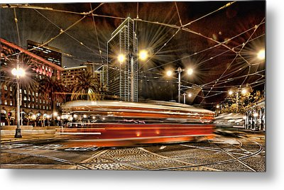 Metal Print featuring the photograph Spinning Trolley Car by Steve Siri