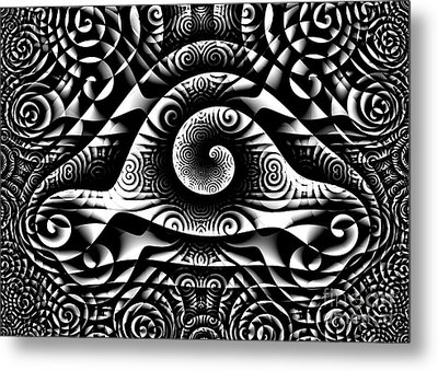 Spiral Abstract 1 Metal Print