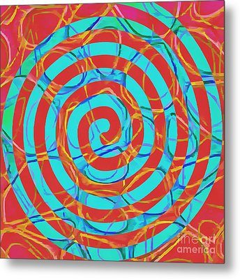 Spiral Abstract 1 Metal Print by Edward Fielding
