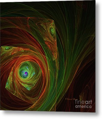 Spiral Abstract 2017 Metal Print by Deborah Benoit