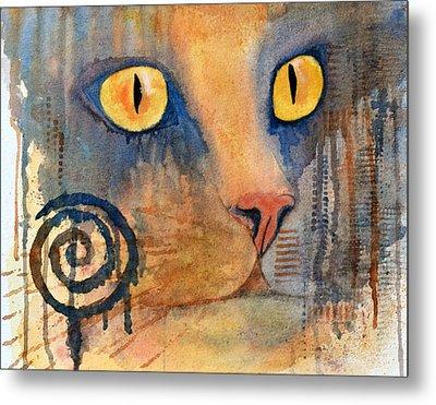 Spiral Cat Series - Returned Metal Print by Moon Stumpp