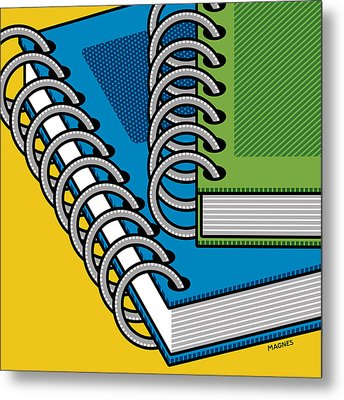 Metal Print featuring the photograph Spiral Notebooks by Ron Magnes