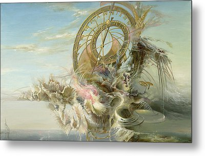 Spiral Of Time Metal Print by Sergey Gusarin