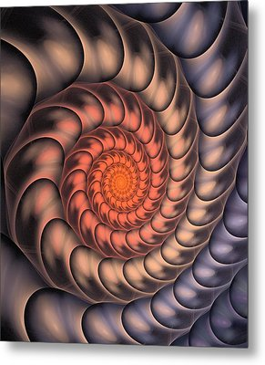 Metal Print featuring the digital art Spiral Shell by Anastasiya Malakhova
